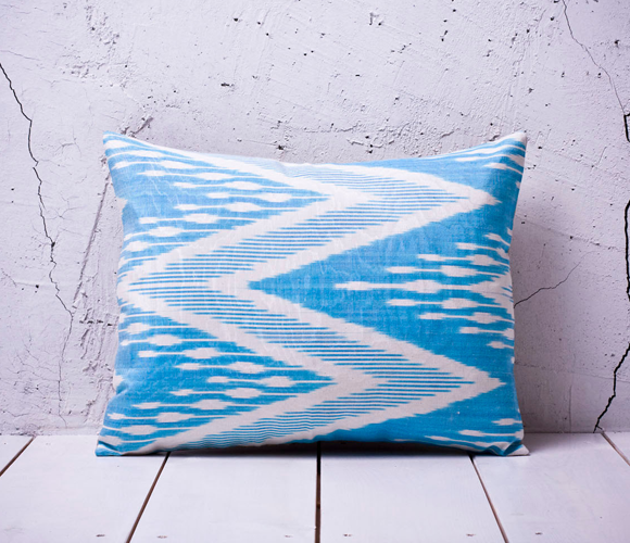 Aqua Ikat Pillow A Fresh Home Pinterest Aqua
