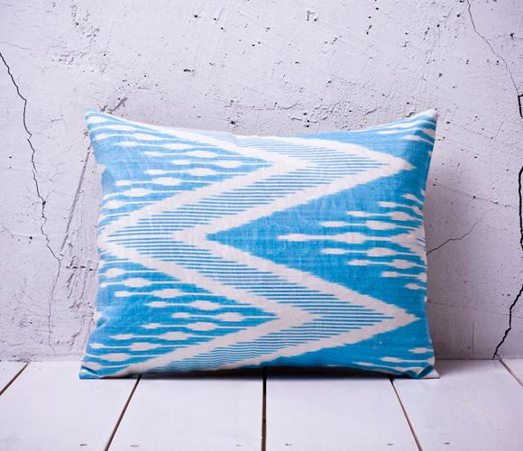 Aqua Ikat Pillow A Fresh Home Pinterest Aqua