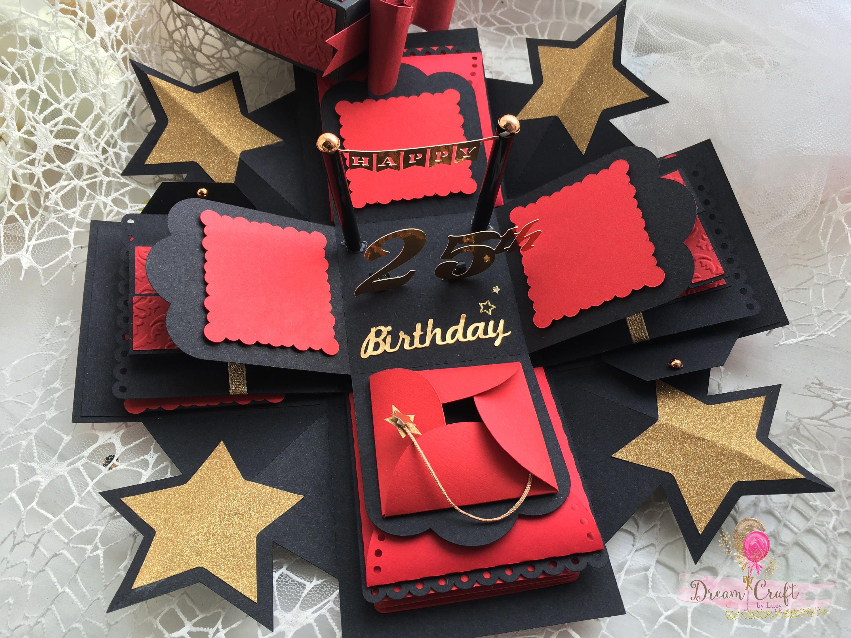 Red exploding photo box explosion box christmas gift photo box