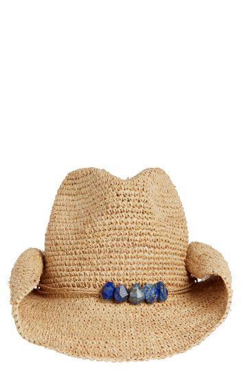 Mona Raffia Cowboy Hat | Calypso St. Barth