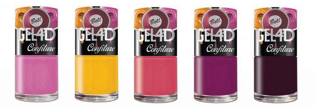 GEL 4D Confiture zapewnia efekt mokrych paznokci, a jednocześnie zapewnia trwałość i odporność lakieru na zadrapania. Dzięki specjalnej formule lakier schnie wyjątkowo szybko, a specjalny pędzelek pozwala na aplikację bez smug i zacieków. Nowy GEL 4D Confiture dostępny jest w 5 jesiennych kolorach – dojrzałej maliny i śliwki, kuszącej jagody, mirabelki oraz leśnego wrzosu.