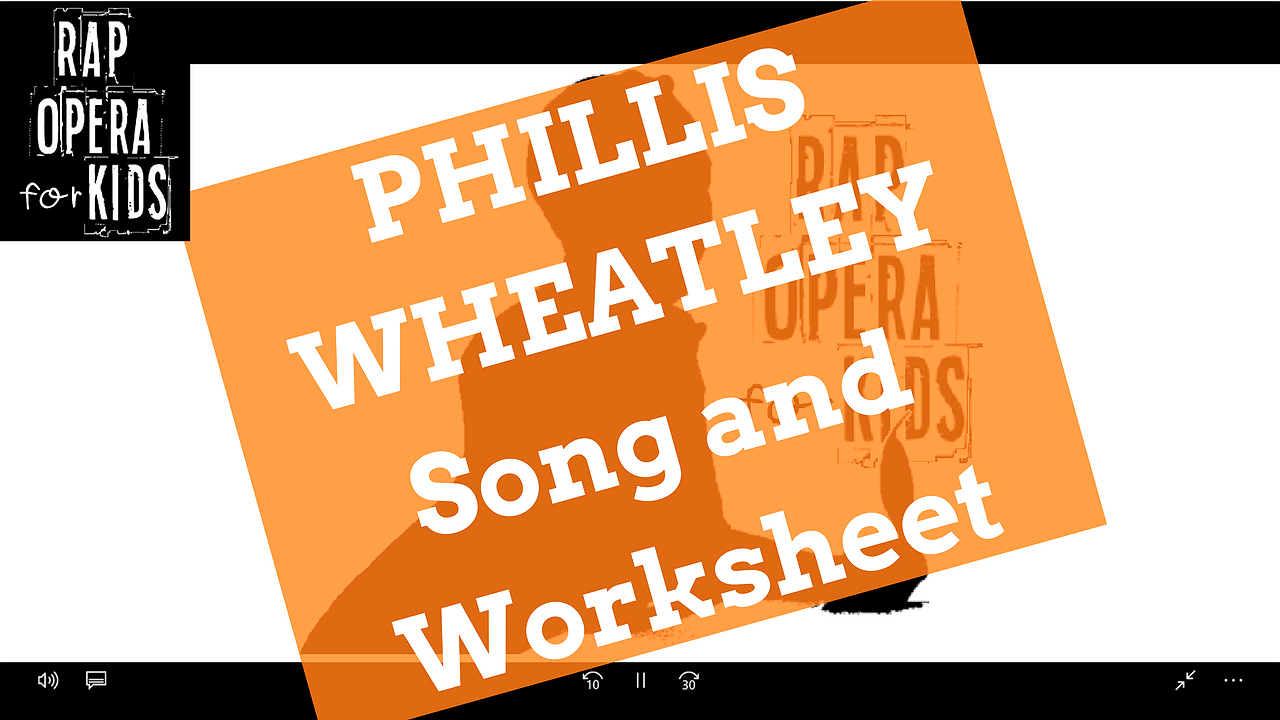 Phillis Wheatley Biography Black History Month Passage with Song