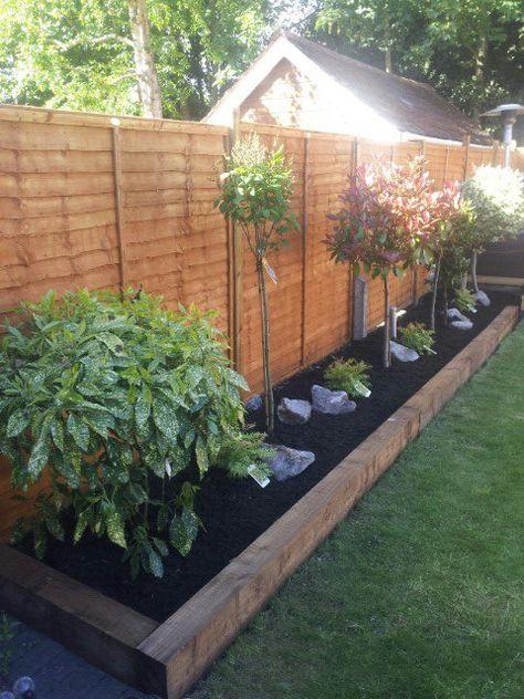 Image result for border edging sleepers Garden Pinterest
