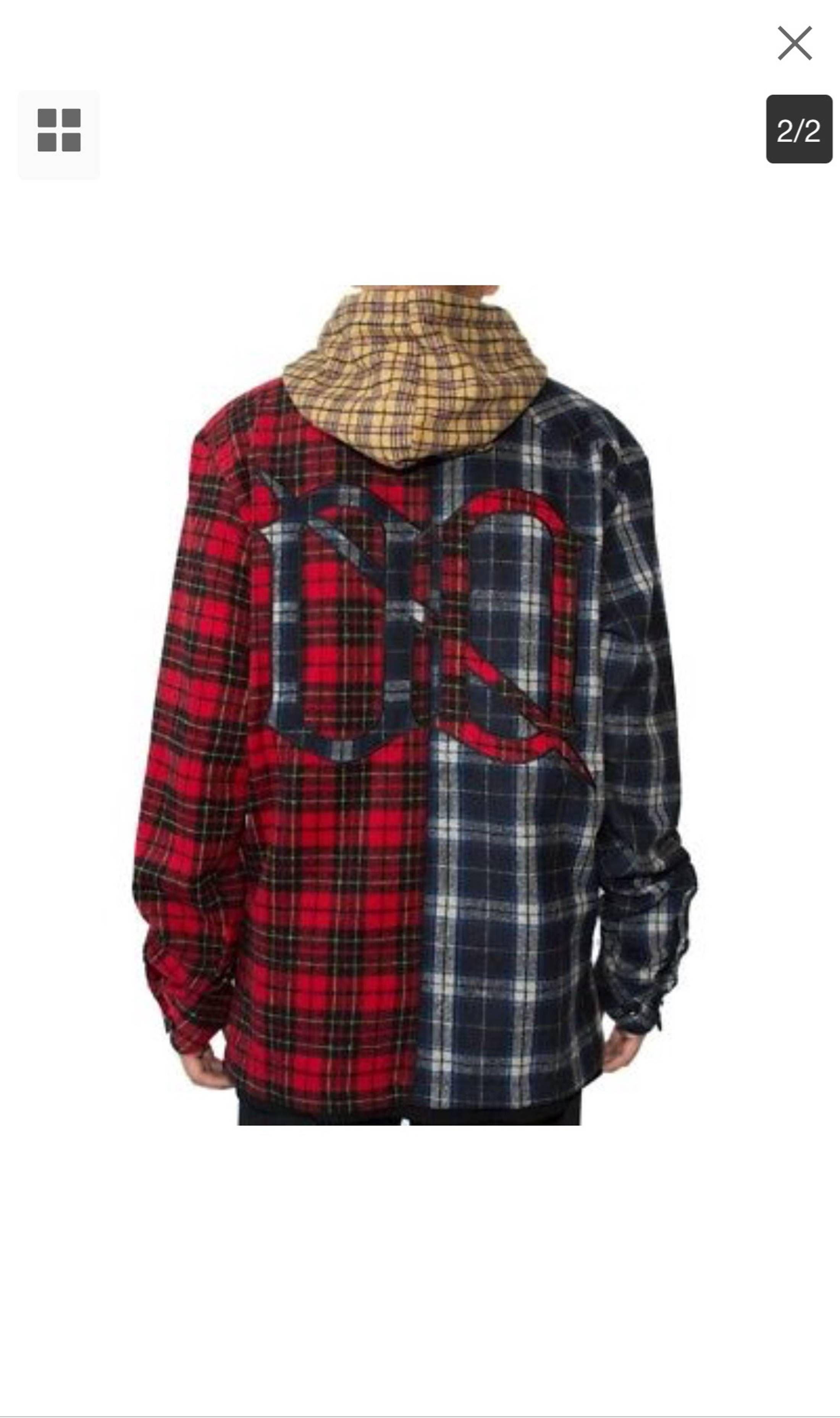 L00SECHANGE L00sechange Oversized Split Hooded Flannel Fazebank Small Size  US S   EU 44-46   1 - 1 5e8cba0e40