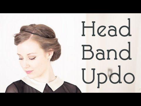 1940's Hair Style Tutorial - The Headband Updo Trick - YouTube