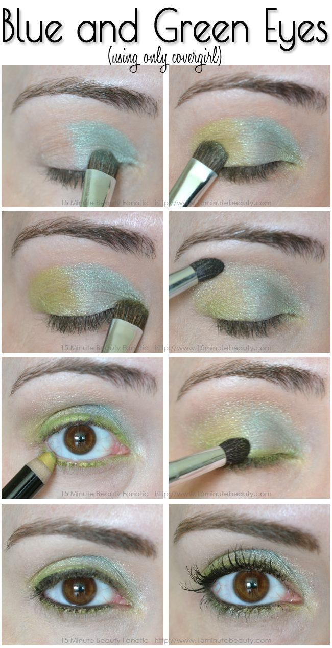 Covergirls flamed out collection review and a color eye tutorial blue and green eyes blue and green eyes makeup tutorial wed love to baditri Images