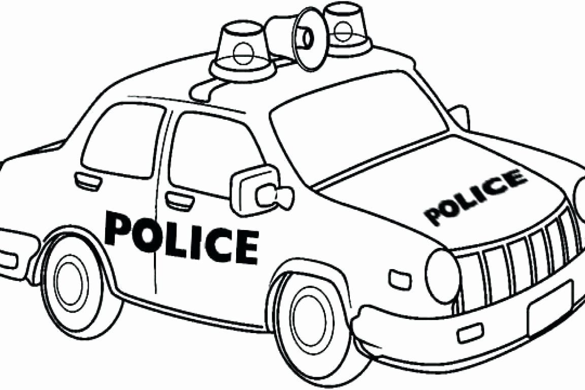Police Truck Coloring Page