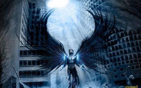Anime Angel Boy Photo For Android Dark Angel Wallpaper Angel Wallpaper Dark Fantasy Art