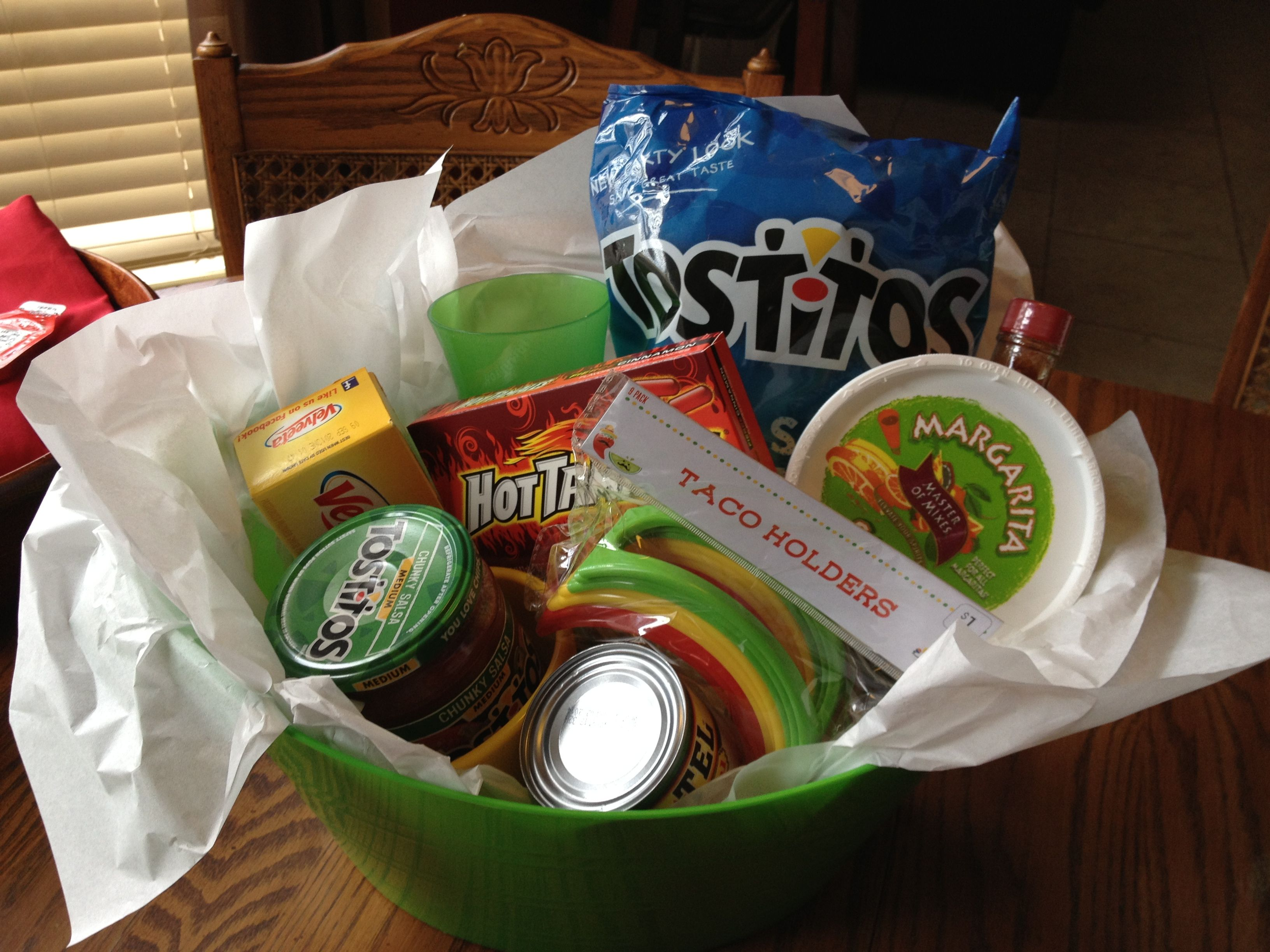 Office ideas for cinco de mayo - Cinco De Mayo Themed Basket Bunko Prize Or Great For Raffles