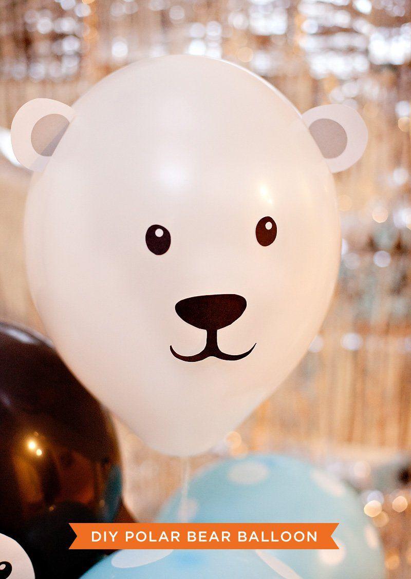 DIY Penguin & Polar Bear Party Balloons | Polar bear party, Polar ...