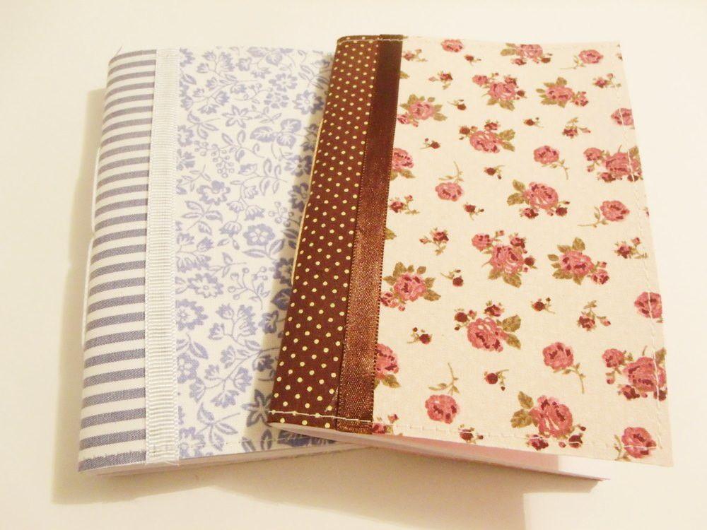 Caderninho De Anotacoes Capa Flex Artesanal Com Capa Em Tecido
