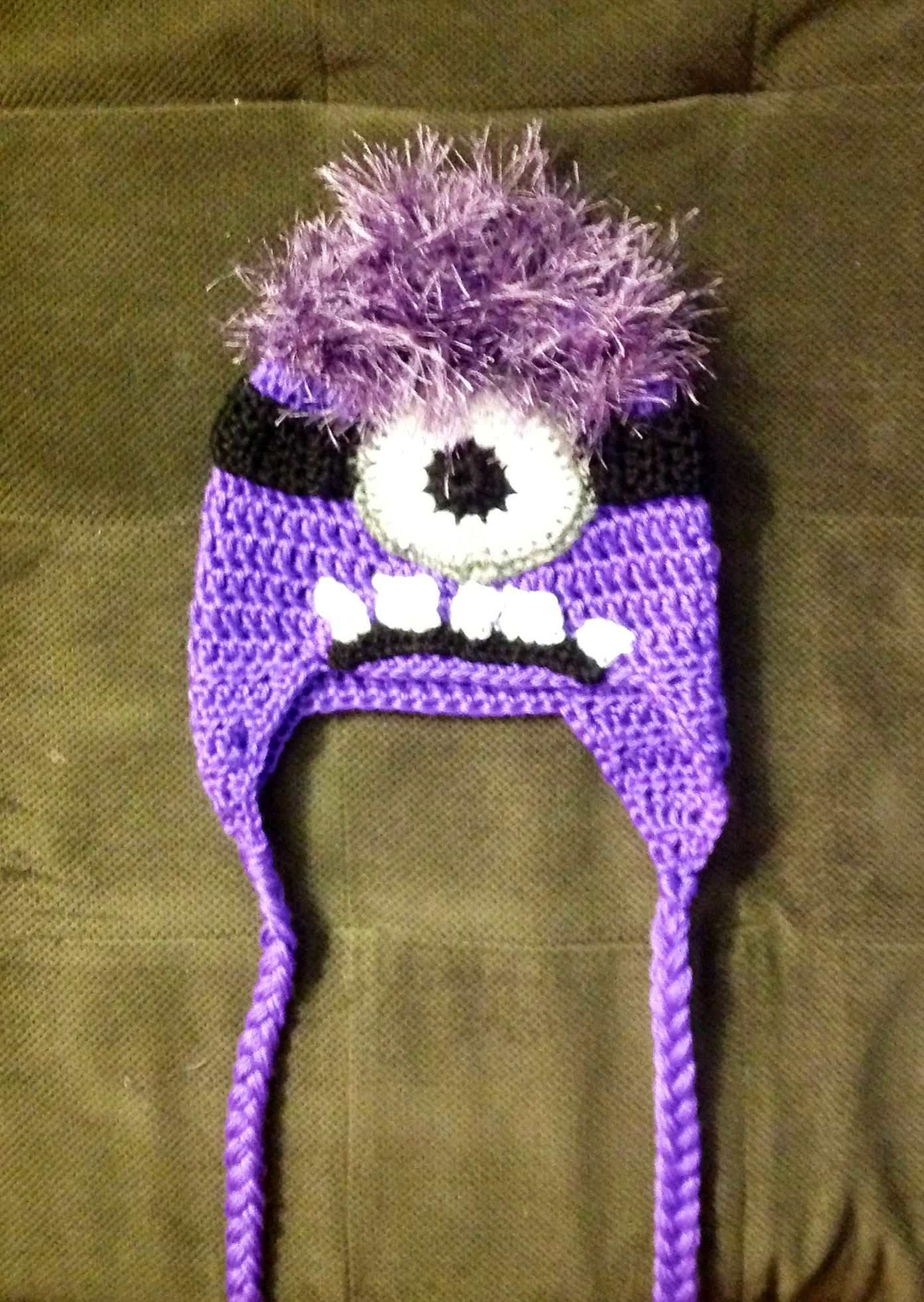 Crochet Evil Minion hat | Crochet - Hats | Pinterest | Gorros ...