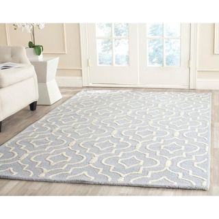 Safavieh Handmade Moroccan Cambridge Light Blue Ivory Wool Rug With High Low Construction 5 X 8 By
