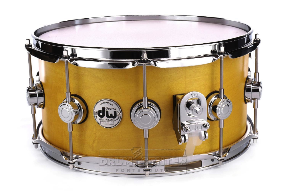 Dw Collectors Maple Snare Drum 14x6 5 Satin Amber Snare Drum Drums Snare