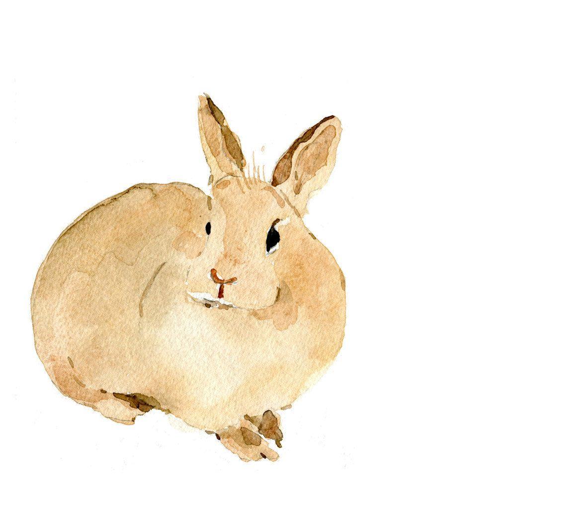 Cute bunny art Print of my original watercolor painting ,Easter ...