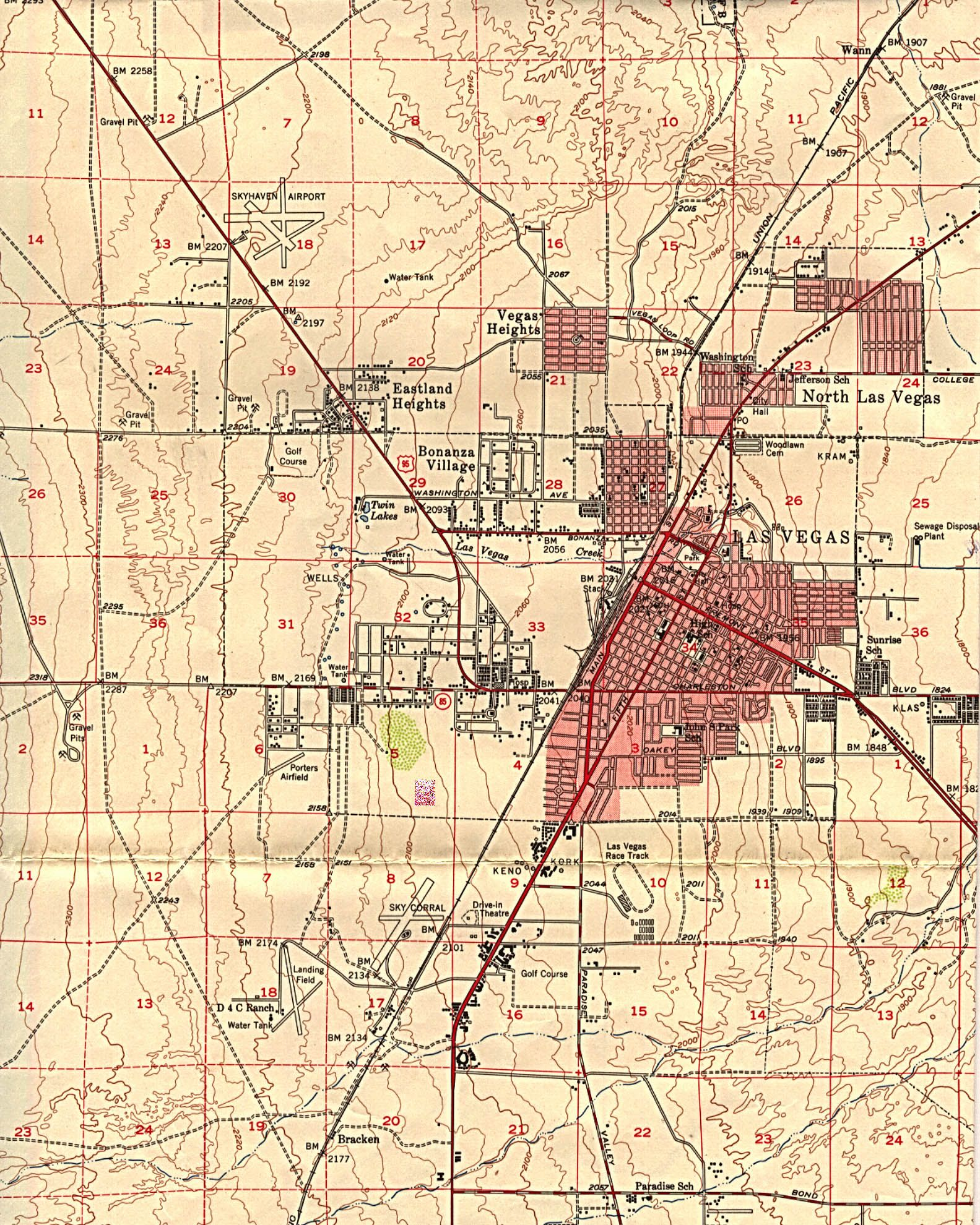 Httpwwwlibutexasedumapshistoricallasvegasjpg Las - Us geological survey maps historical