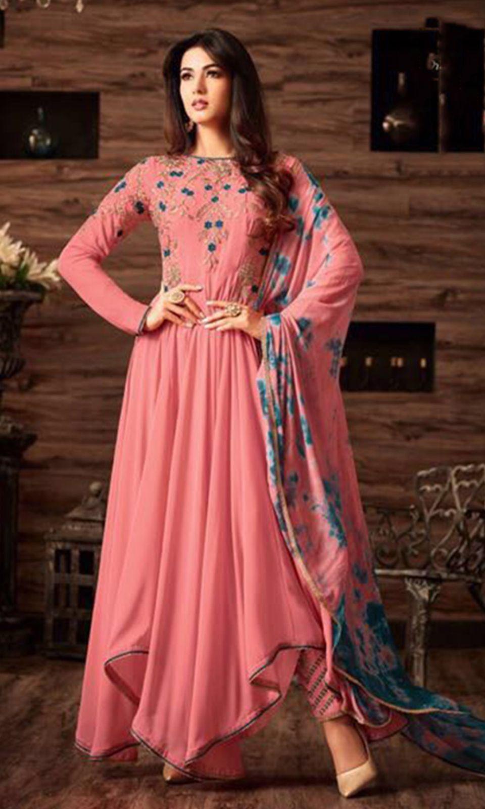 6a1127ed0 Buy online  Pink Floor Touch Frock  Suit (SKU Code   SUEBRMS4808) at  Ishimaya Fashion.