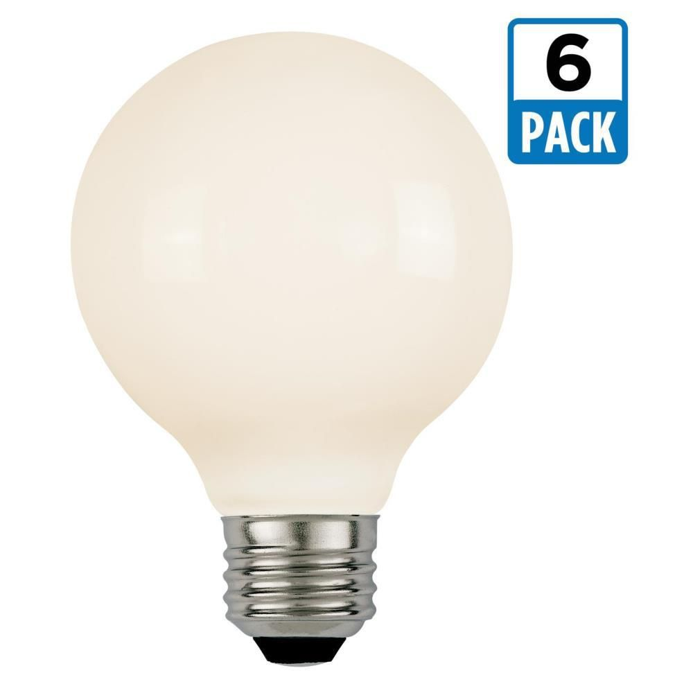 W equivalent soft white g dimmable filament led light bulb