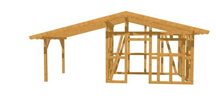 Bauanleitung Gartenhaus mit Unterstand Gartenhaus bauen