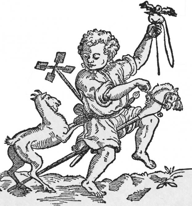 A boy and his toys in a c1600 illustration © Getty