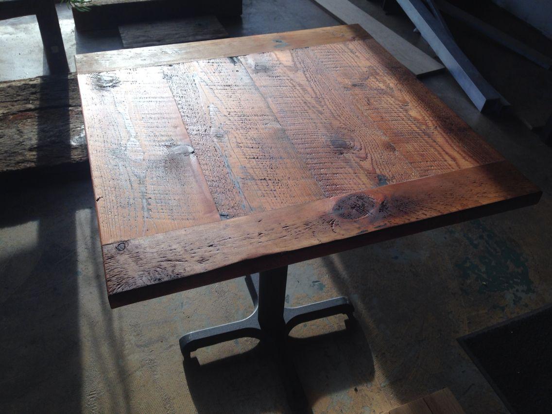 Reclaimed Wood Table Top Rustic Threshing Board