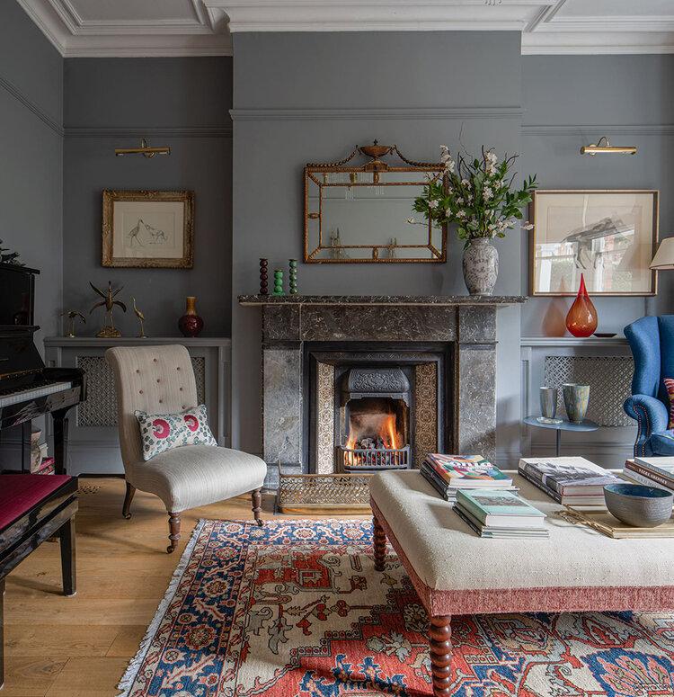 Projects London Interior Design Anna Haines Design Sitting Room Interior Design Victorian Living Room Interior Design