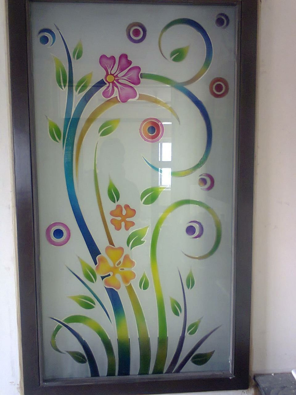 Glass Colour Etching   Glass etching designs, Glass ...