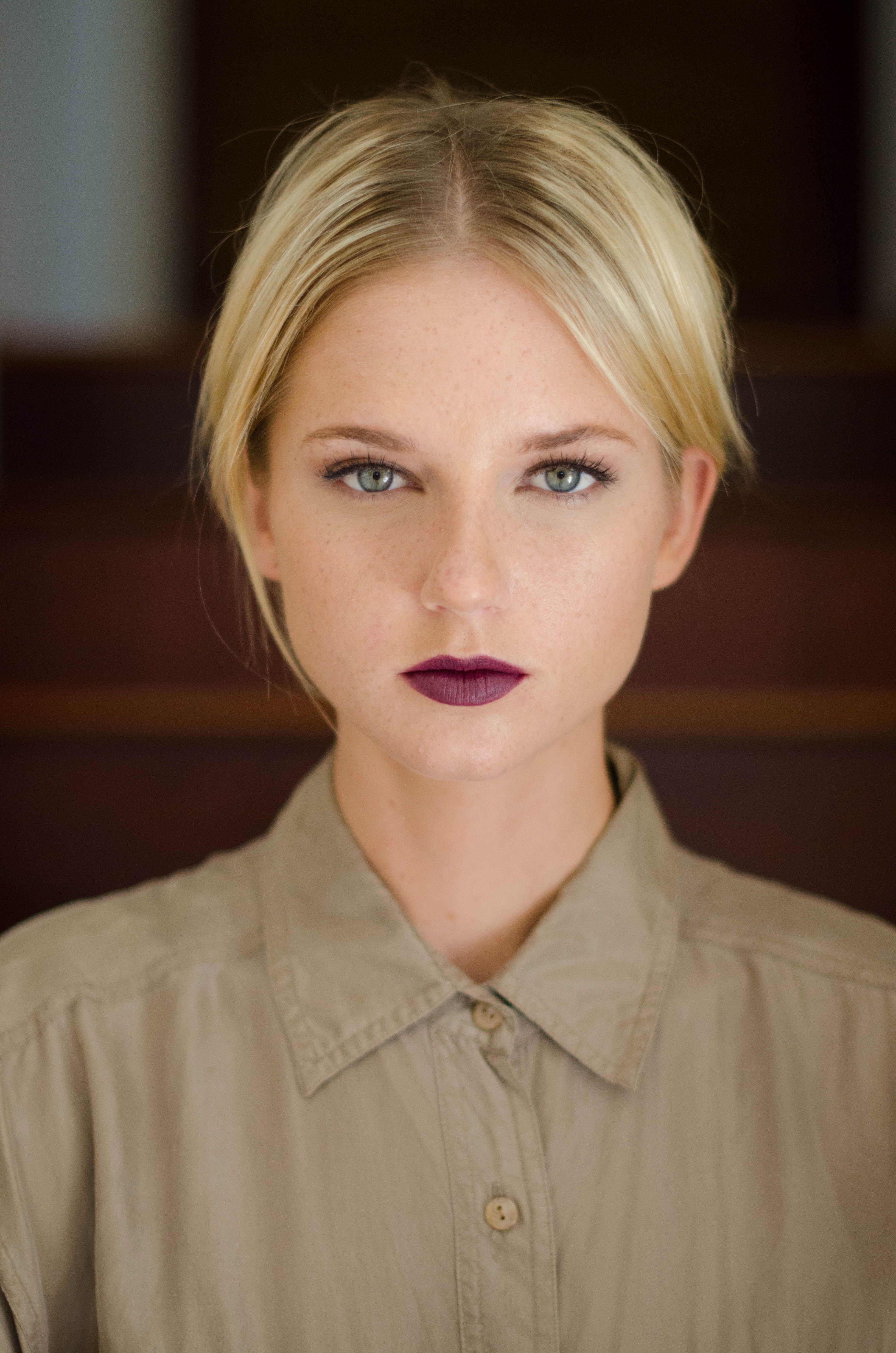 Stunning natural makeup with a bold lip! Makeup by Amber