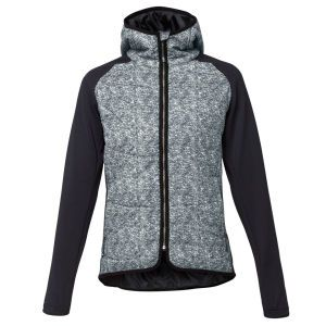 LIJA Women's Melange Shell Quilted Jacket - Charcoal/Heather/Black: Image 1