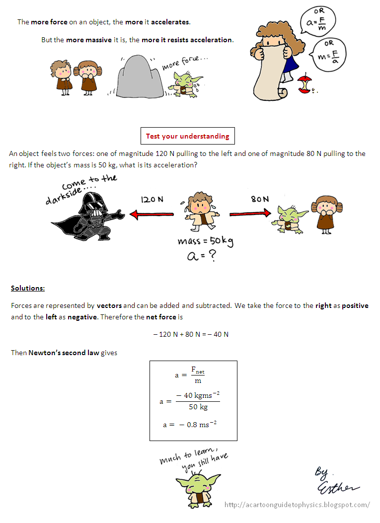 worksheet Laws Of Motion Worksheet a cartoon guide to physics newtons second law of motion science motion
