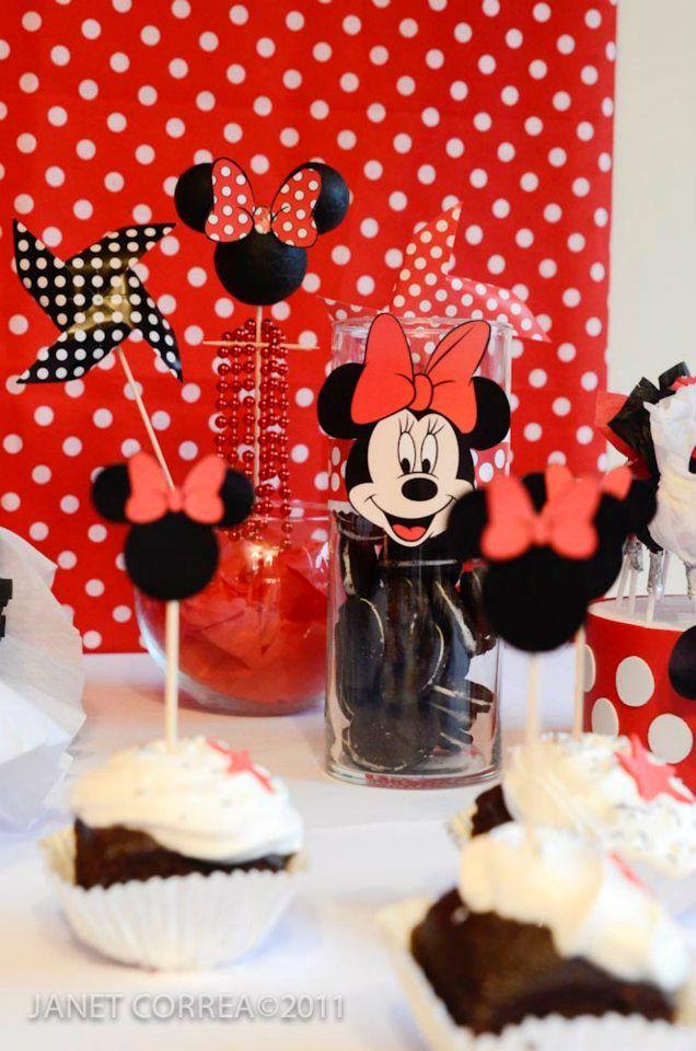 Minnie mouse decoraci n mesa cumplea os pinterest - Decoracion minnie cumpleanos ...