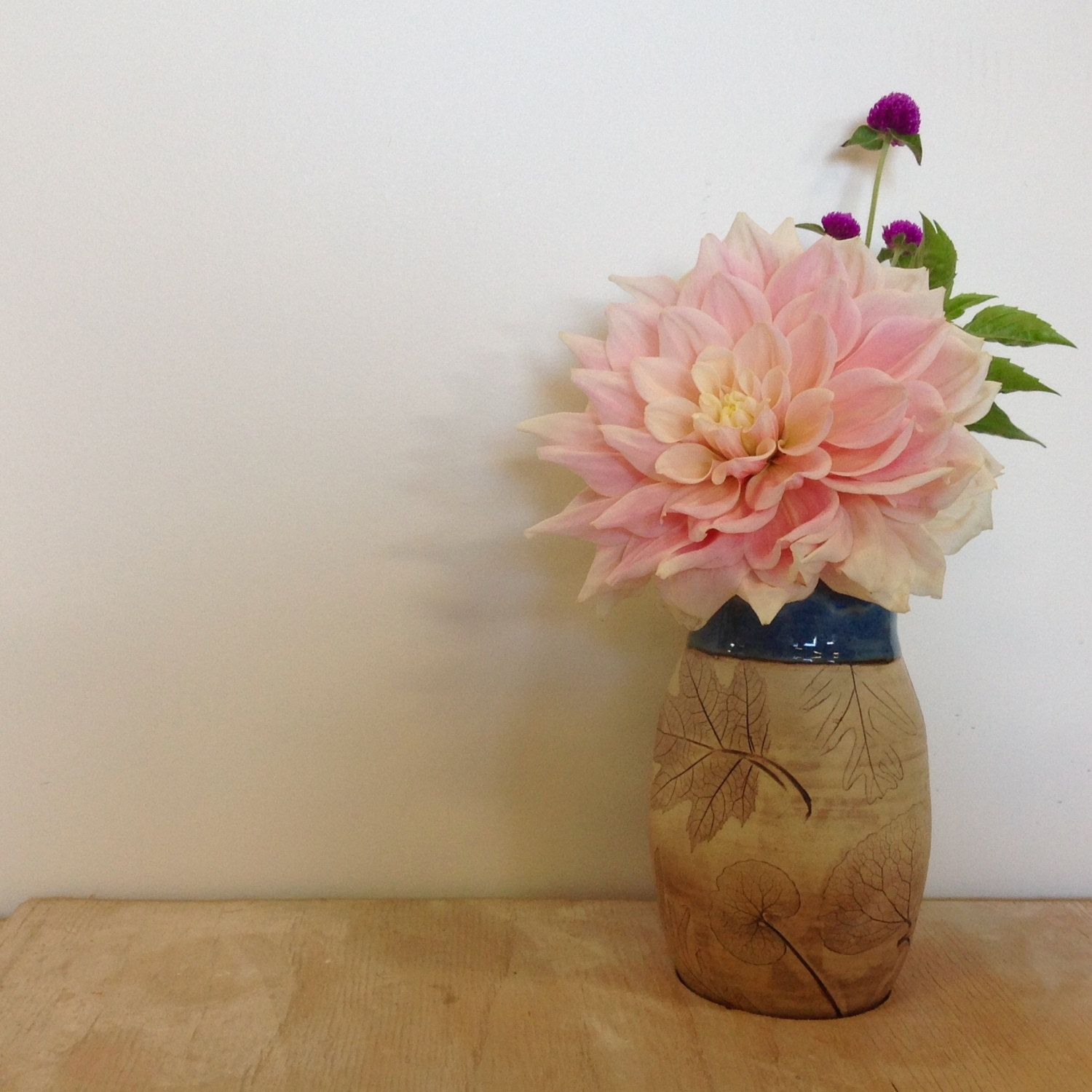 One-of-a-Kind Woodland Flower Vase by juliaedean on Etsy