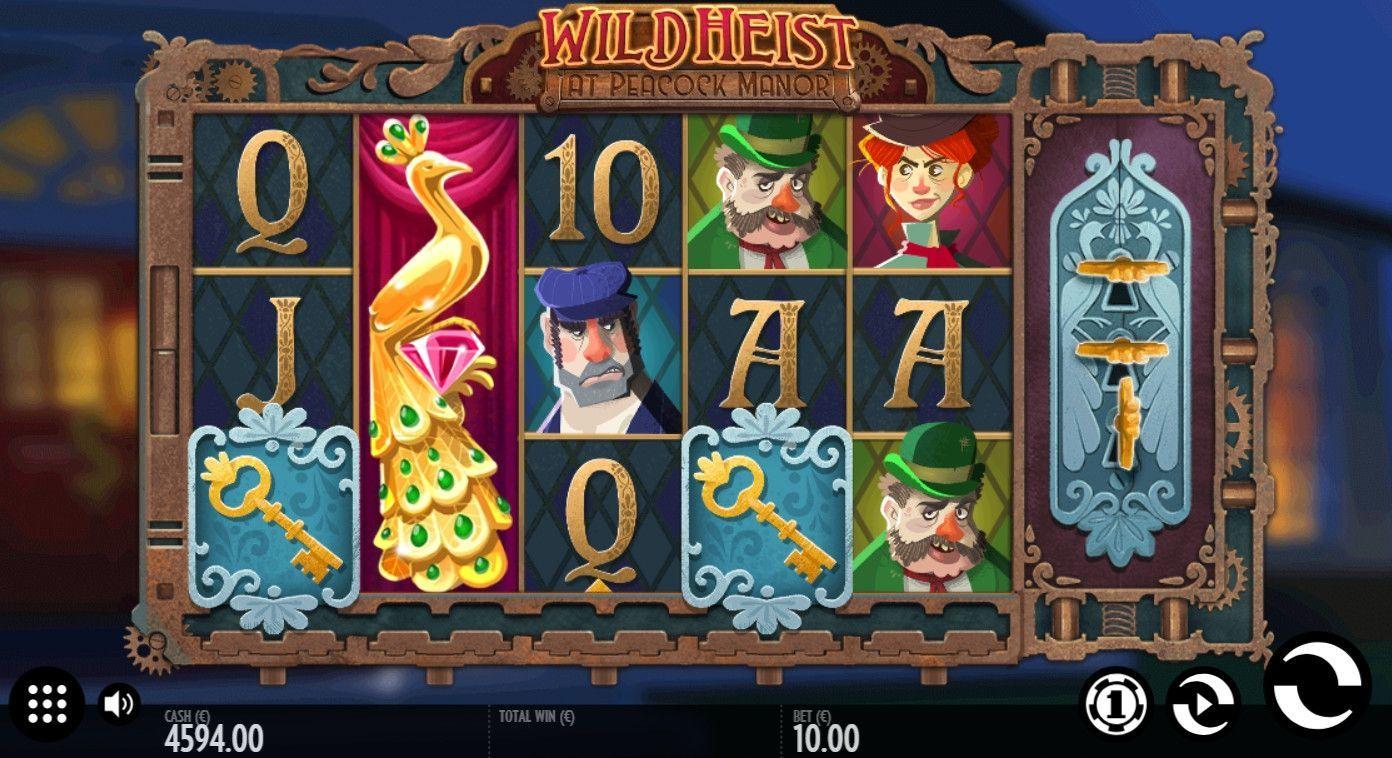 Wild Heist At Peacock Manor Slot Machine