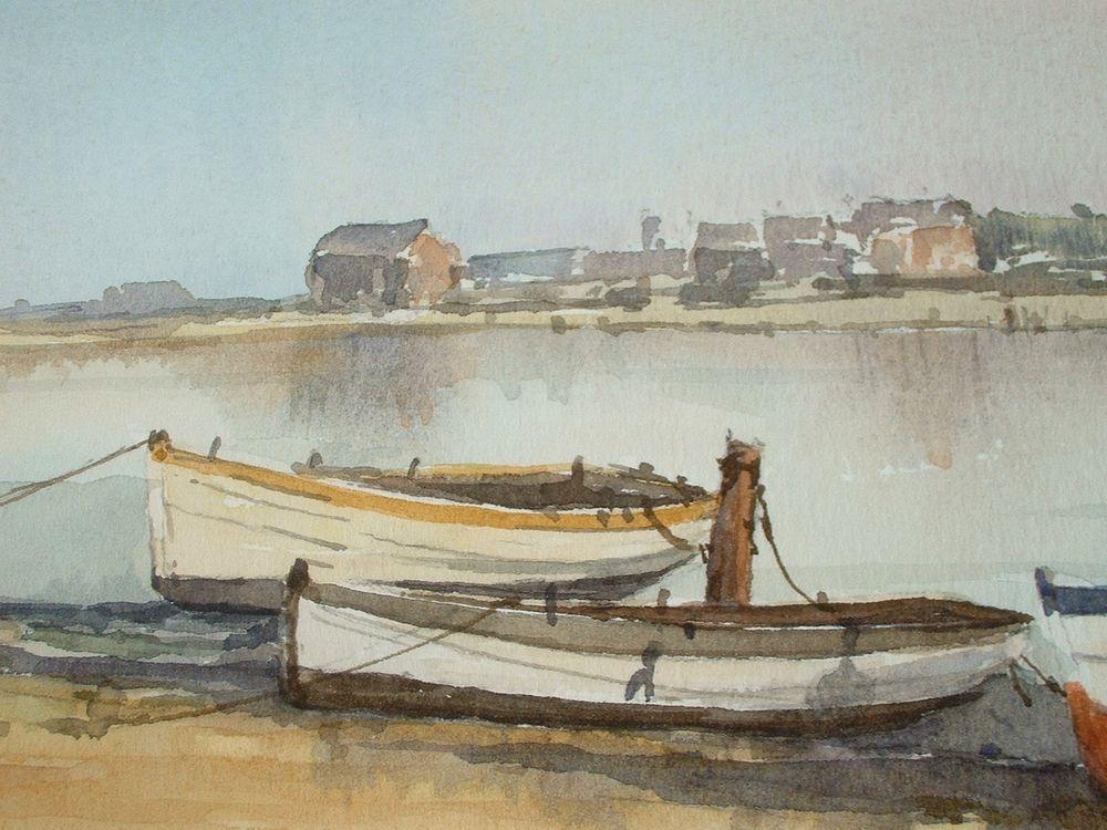 John R Pretty Suffolk Coast Watercolour Walberswick Southwold Seascape Boats Art Painting And Drawing Suffolk Coast East Coast Beaches Watercolor