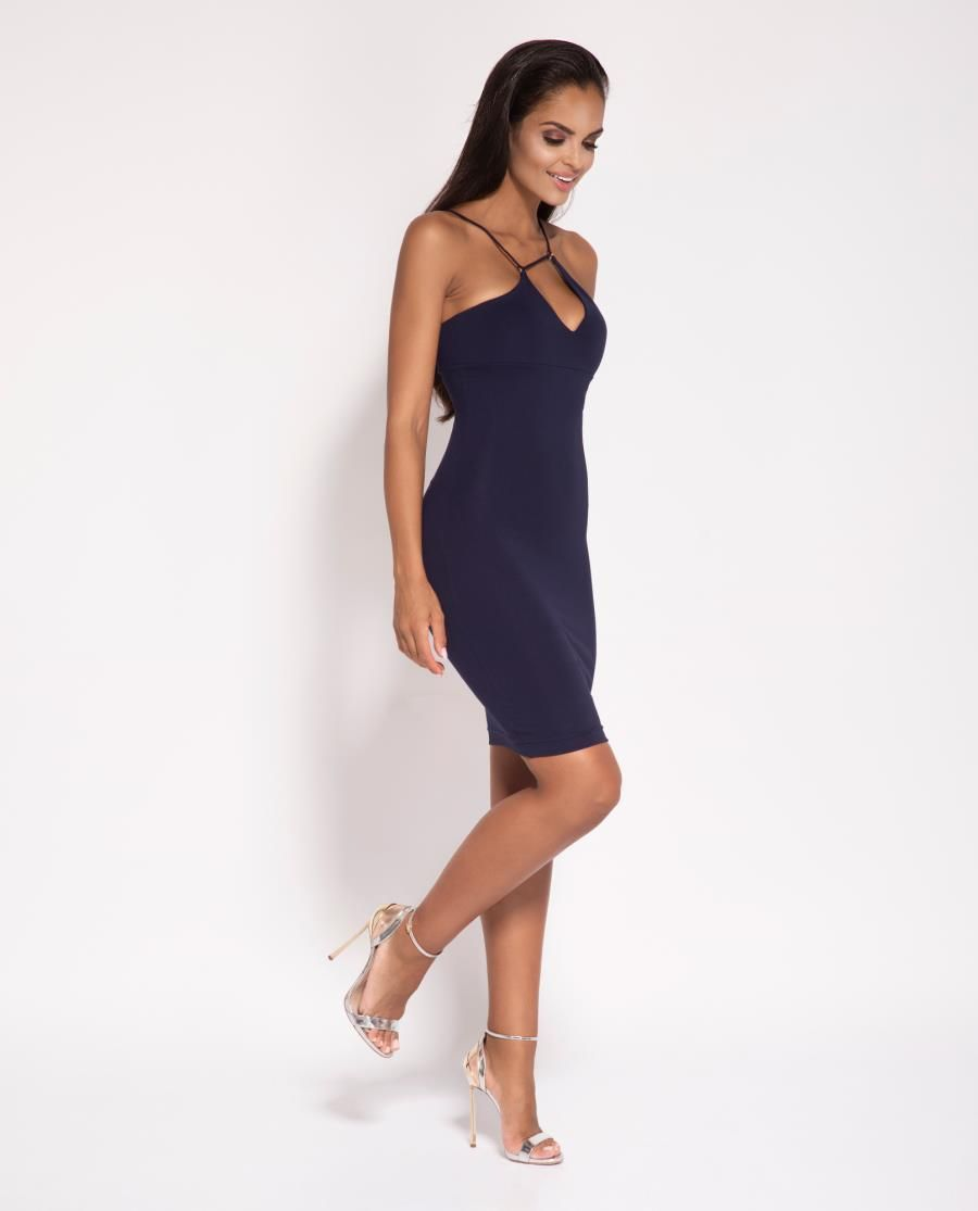 5e35385a7 Dopasowana Sukienka Sila Granatowa | Sukienka, Sukienki, Dresses ...