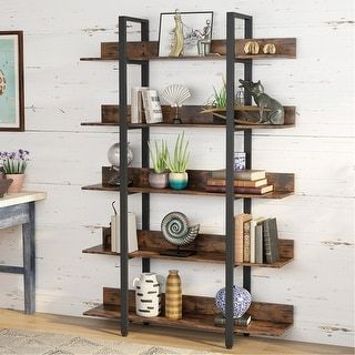 Industrial Style 5 Tiers Bookcase Etagere Book She
