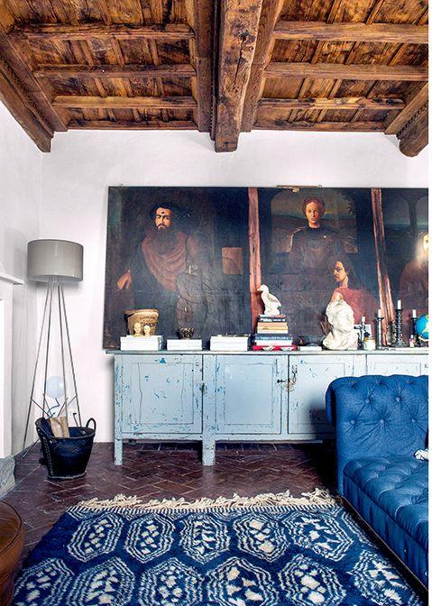 Une Maison Italienne Pour Une Proprietaire Americaine En 2020 Deco Italienne Maison Italienne Deco Campagne
