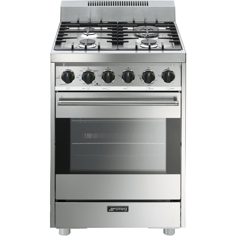Smeg Classic 24 Inch 4 Burner Gas Range Stainless C24ggxu In 2020 Smeg Gas Range Gas Cooker