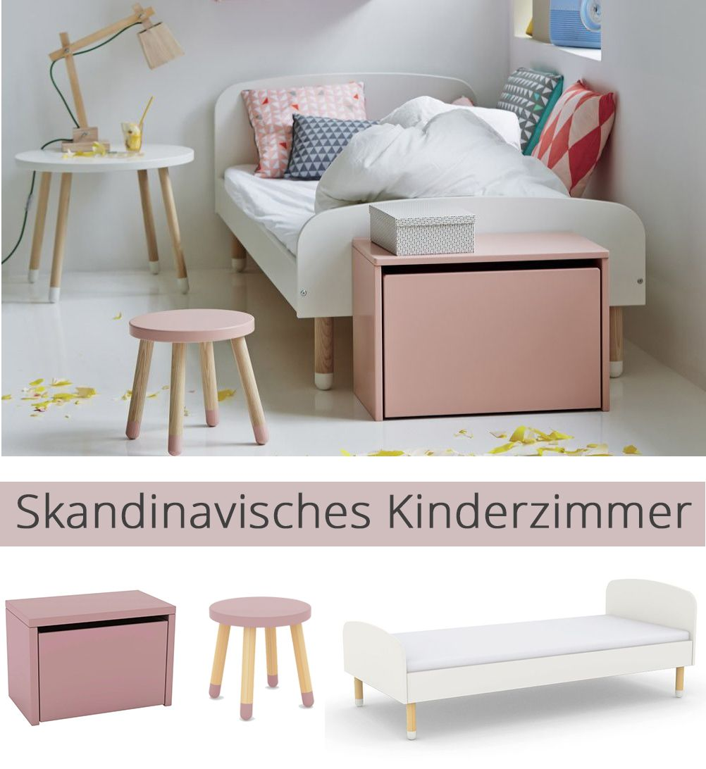 play von flexa kinderbett wei esche skandinavische. Black Bedroom Furniture Sets. Home Design Ideas