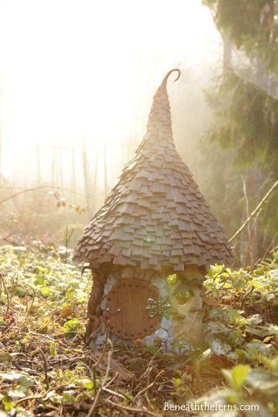 Fairy house garden hobbit gnome home beneaththeferns
