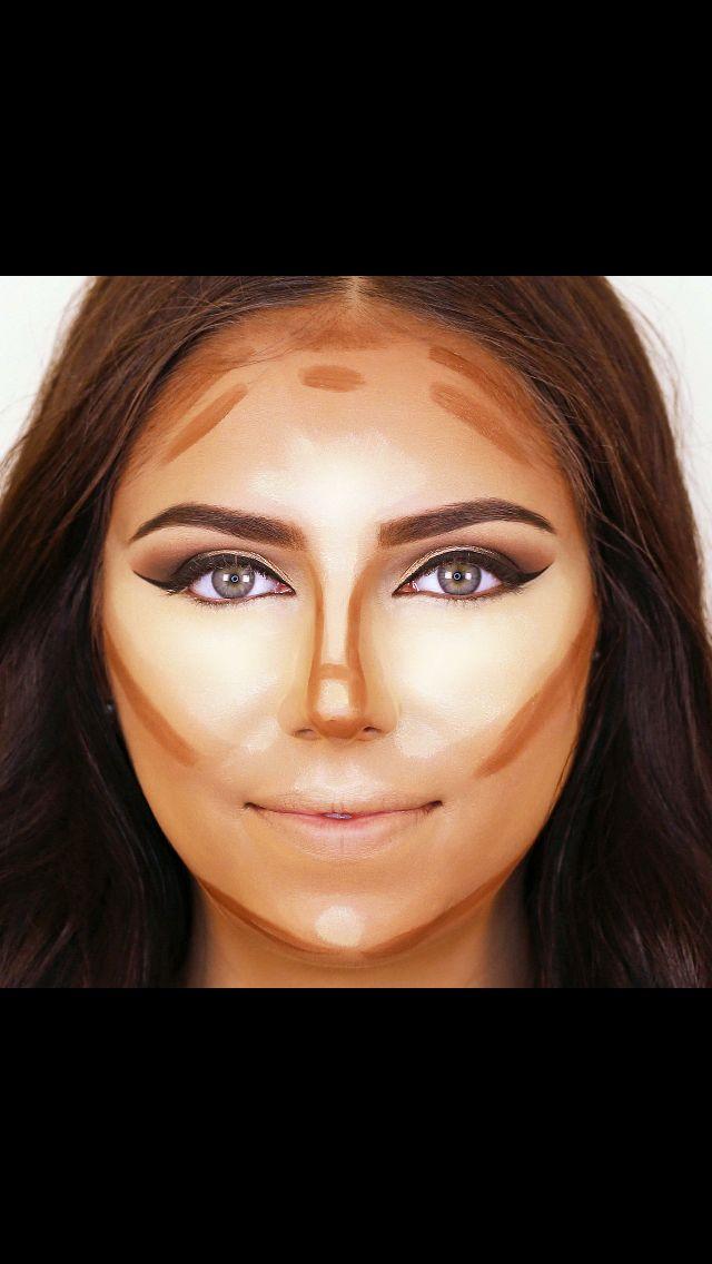 contour rounded faces makeup