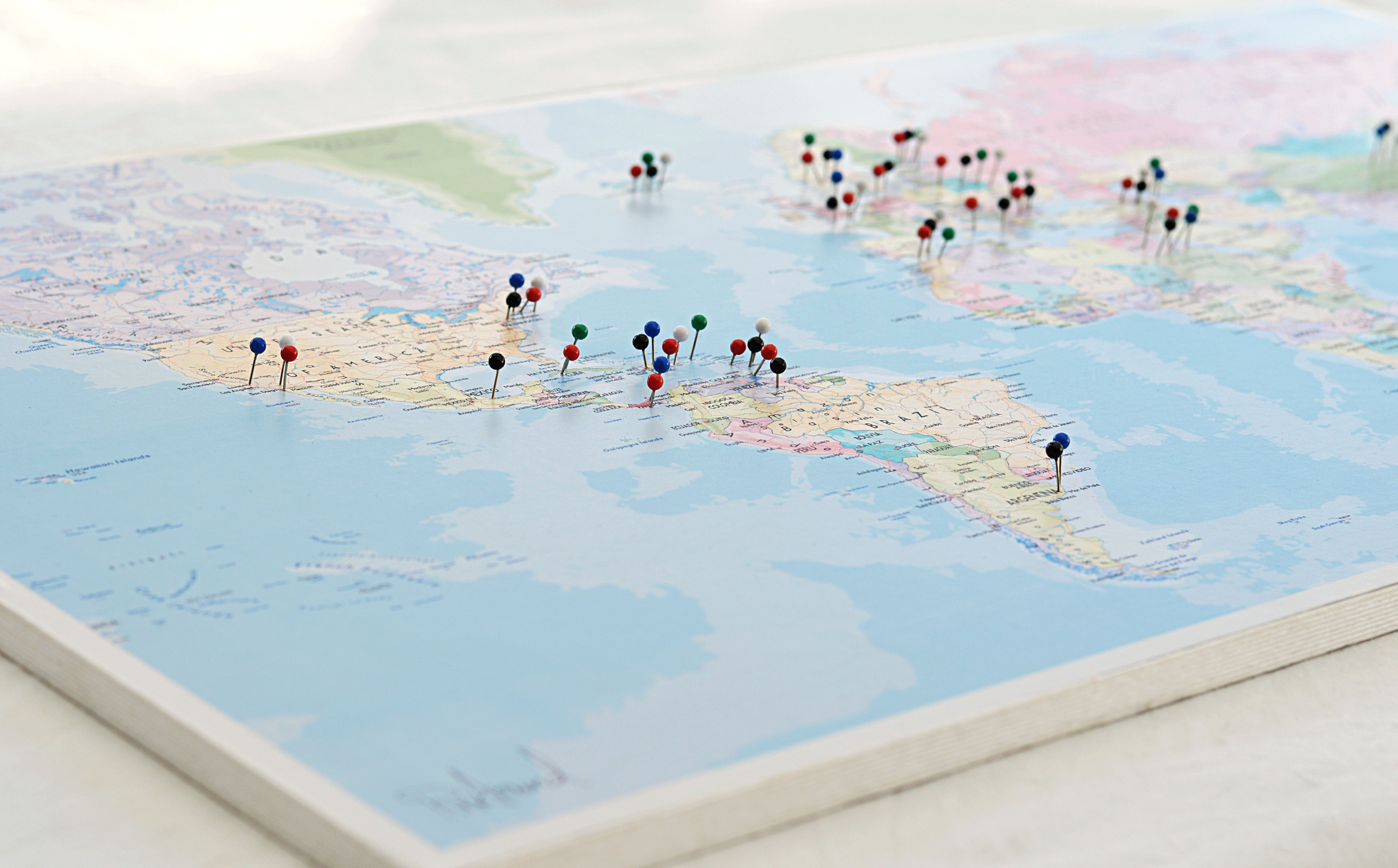 PinAround The World (karta+pins+upphängning)