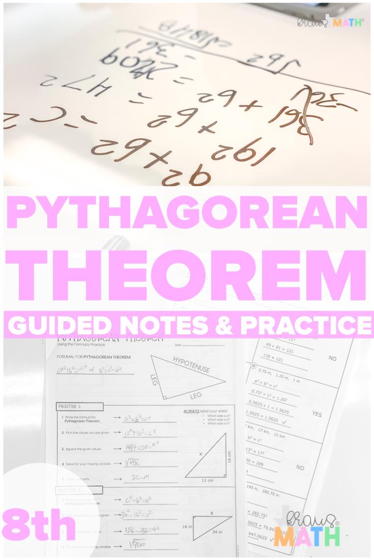 Pythagorean Theorem Guided Practice Worksheet Teks 8 7c Kraus Math Middle School Math Theorems Practices Worksheets [ 1102 x 735 Pixel ]