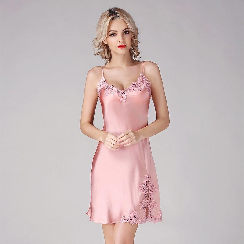 Women\'s Silk Nightgowns Silk Slips Silk Nighties Silk Sleepwear D33141A