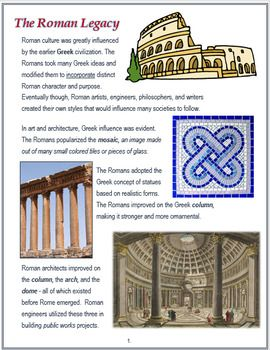 contributions of rome to the modern world