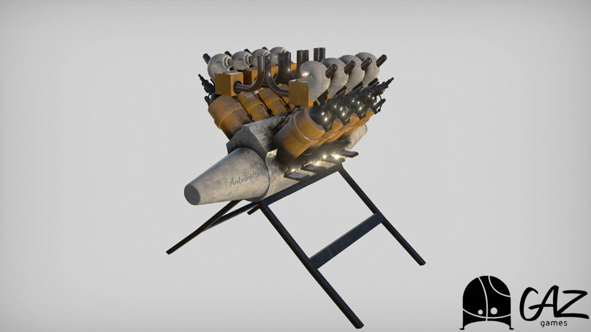 14 Bis - Vintage Aeroplane 3D Air Unity Asset Store #Sponsored #, #Sponsored, #Vintage#Bis#Air#Vehicles