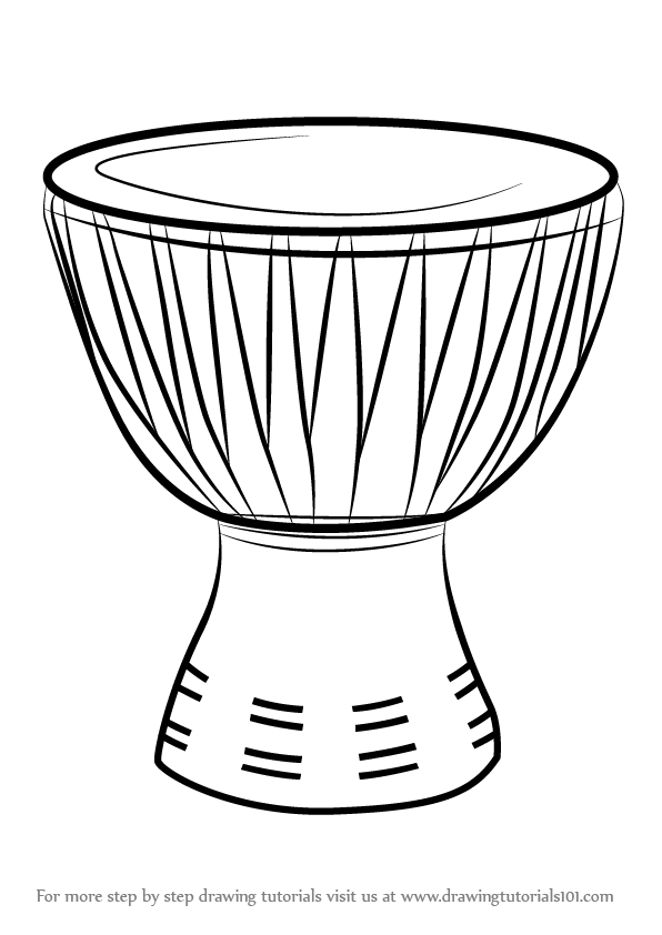 Image result for black and white outlines african drums