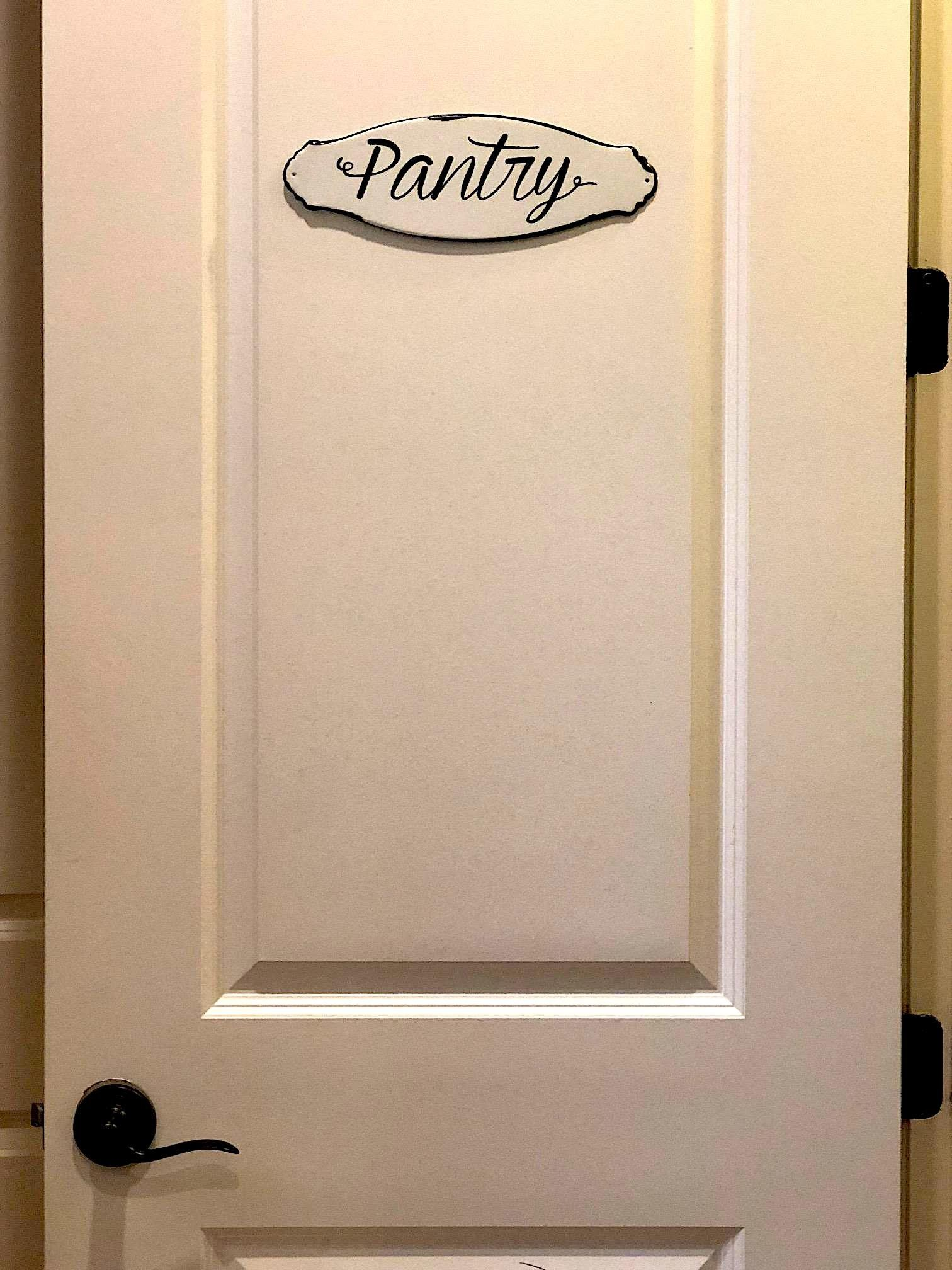 Pantry Sign Wall Door Kitchen Designation Plaque Metal Rustic White And Black Enamel 12 X 4 Check Out This Great Product Pantry Sign Wall Signs Metal Plaque