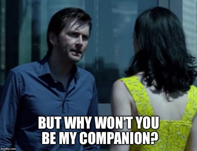I'm not sure if Jessica Jones is a metaphor on Stockholm Syndrome, or if it's just a messed up story about what happens when someone refuses to be the Doctor's 'companion'.