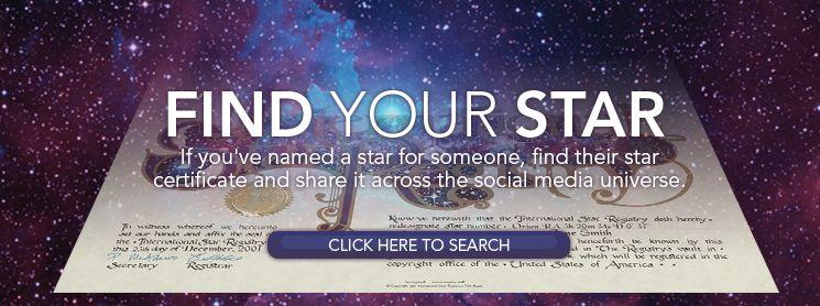 Name A Star Buy A Star International Star Registry Star Registry Names Stars